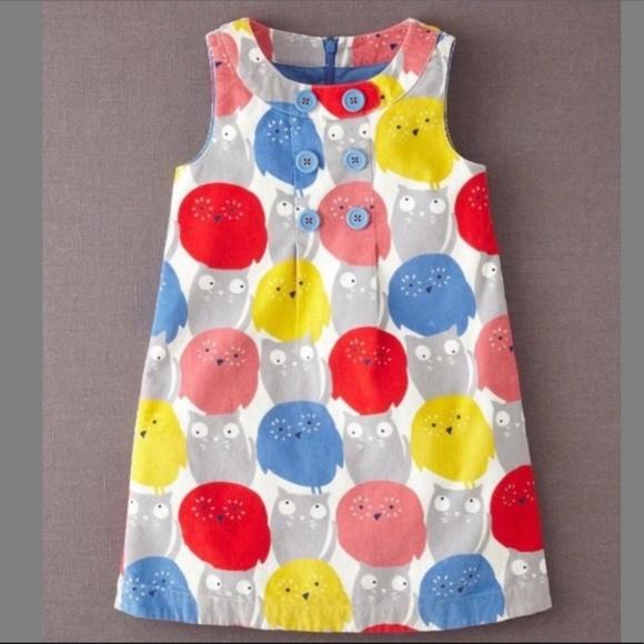 d616aefd Mini Boden Dresses | Sz 5 6 Y Cord Owl Cat Print Dress | Poshmark